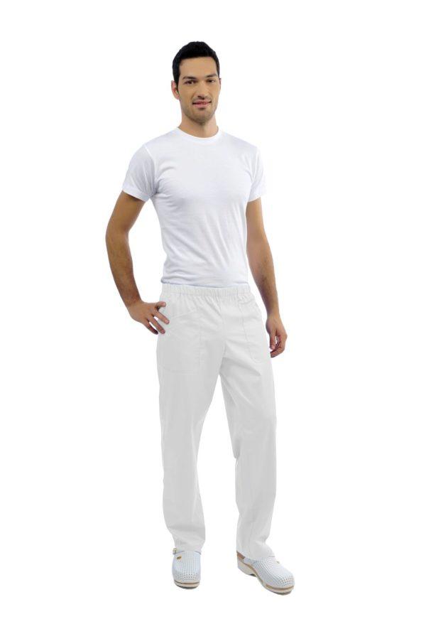 Pantalone Teo - poli/cotton bianco