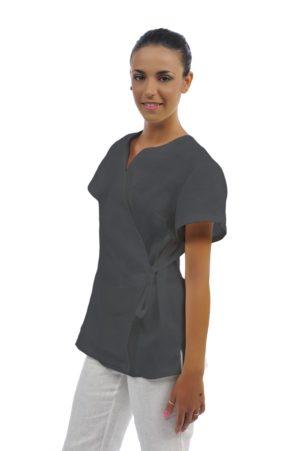Casacca Kimono - 100% cotone grigio