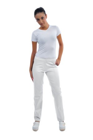 Pantalone Romina bianco - 100% cotone
