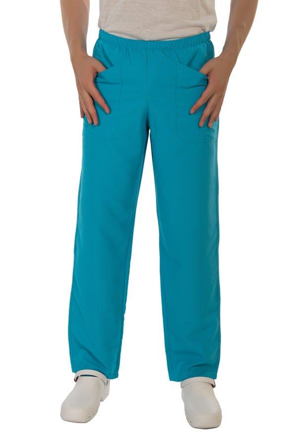 Pantaloni Fast turquoise no iron